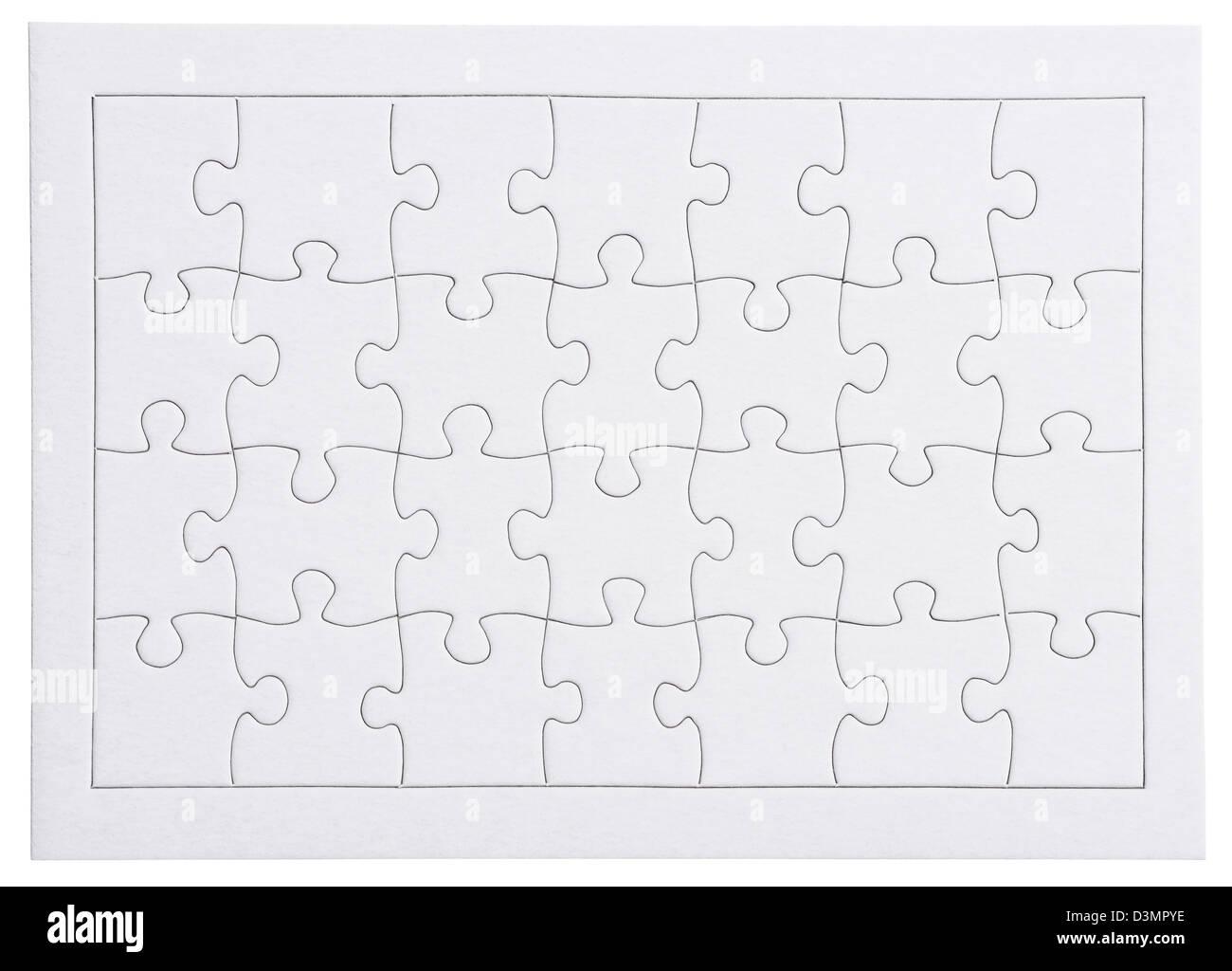 Schwarz / weiß leer Puzzle Gliederung Stockbild