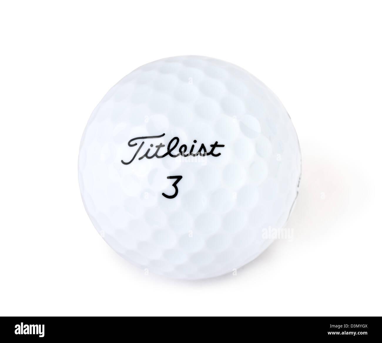 Titleist Golfball Stockbild