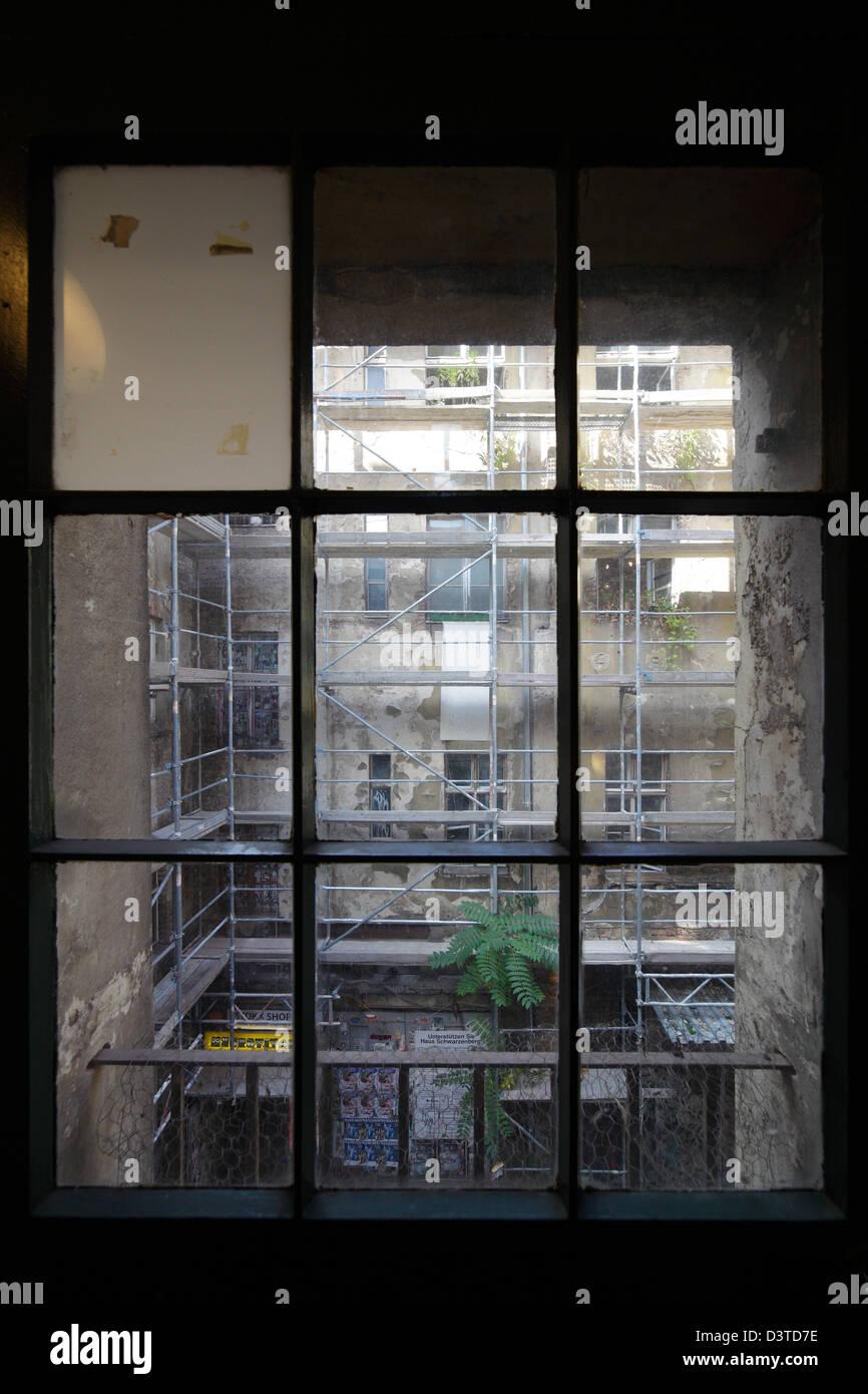 Berlin Deutschland Blick Durch Ein Fenster In Den