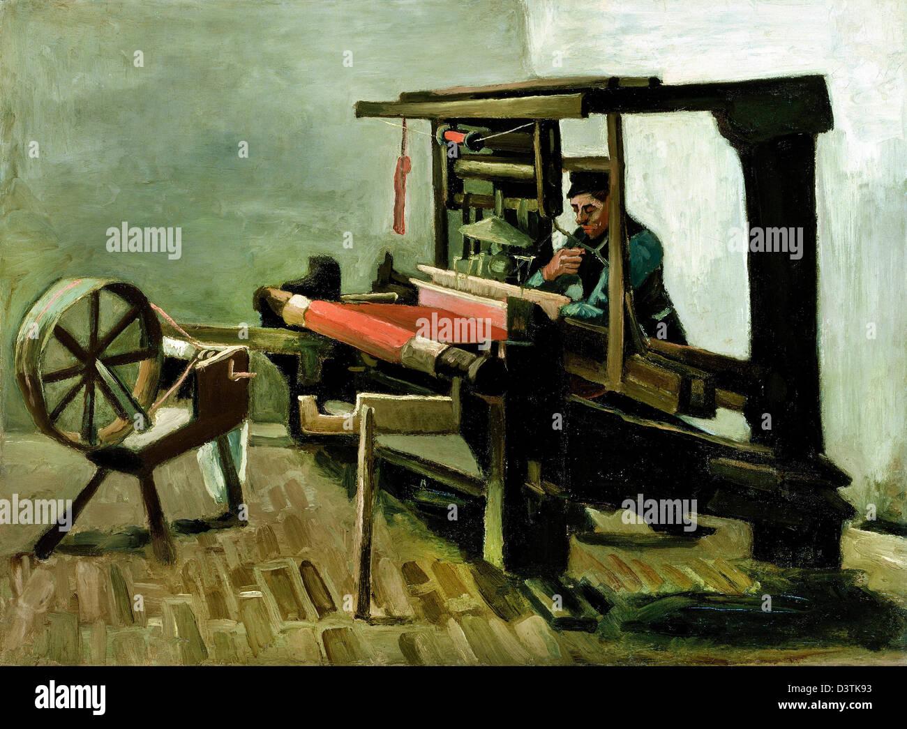 Vincent Van Gogh, Weaver 1884 Öl auf Leinwand. Museum of Fine Arts Boston, Massachusetts Stockfoto