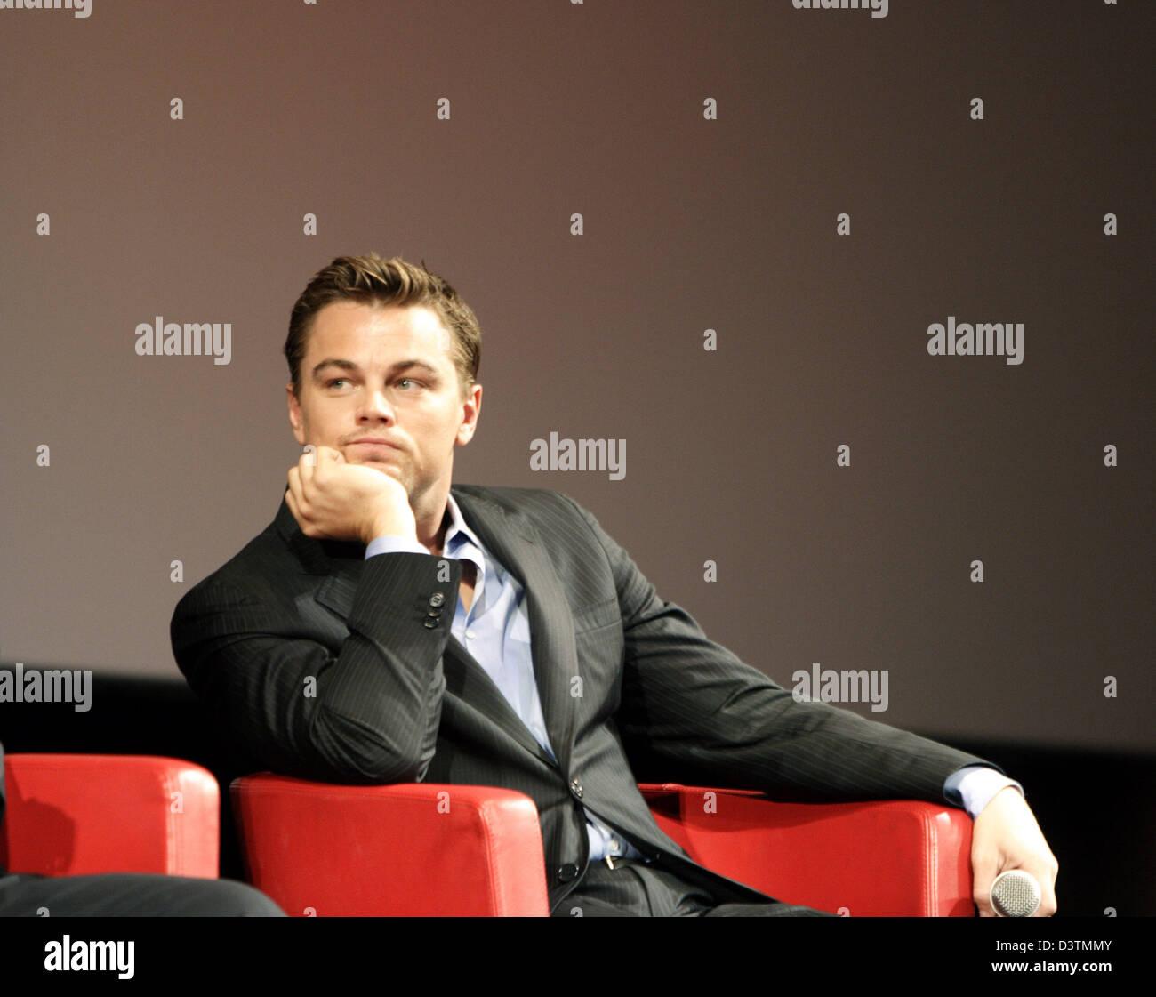 "Leonardo Di Caprio präsentiert seinen neuen Film ""The Departed"" auf dem FilmFest in Rom, Italien, Stockbild"