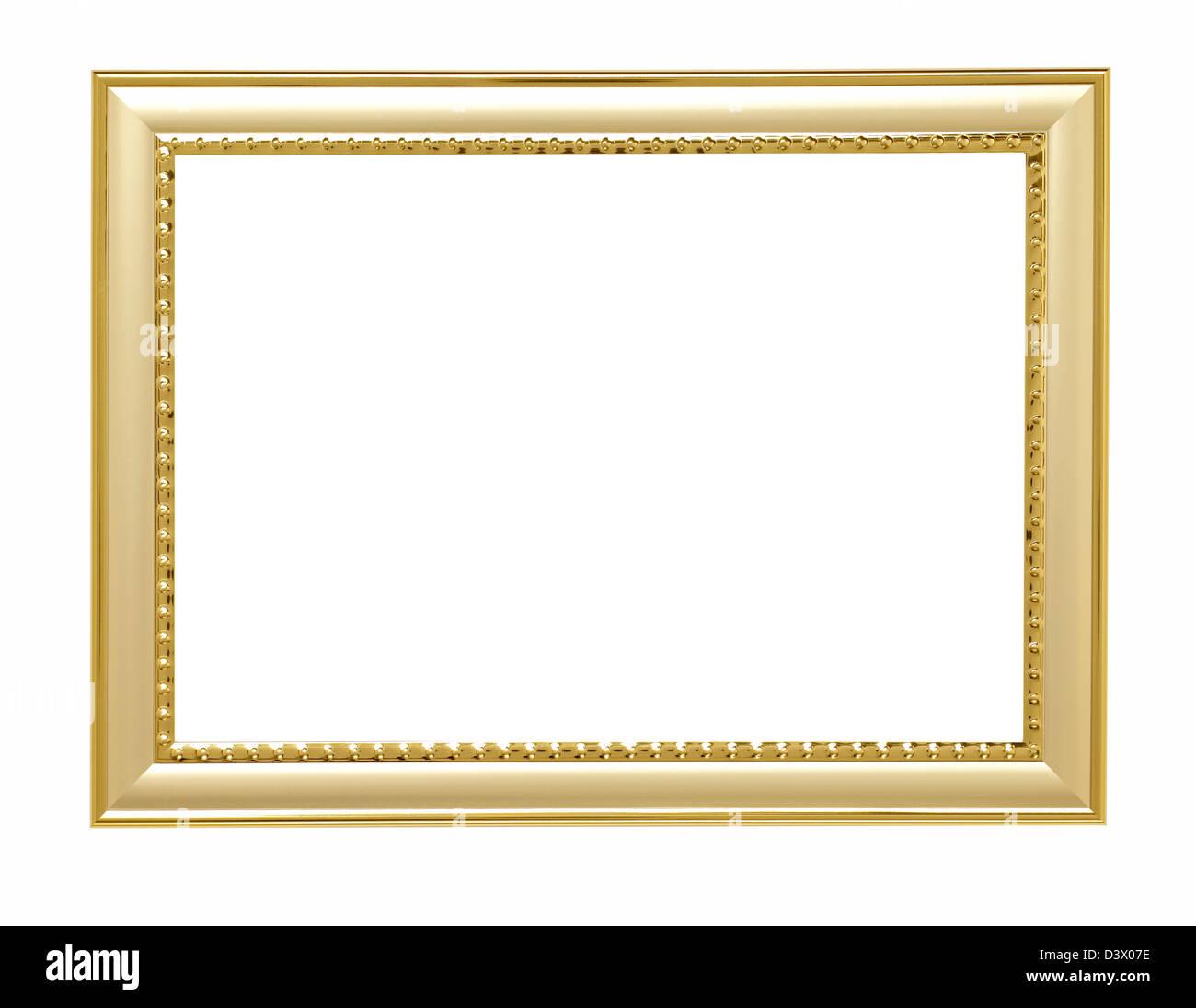 Gold Metall Bilderrahmen Stockbild
