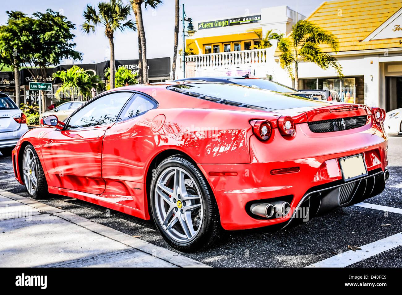 Roter Ferrari F430 Auf Der Exot In Sarasota Florida Stockfotografie Alamy