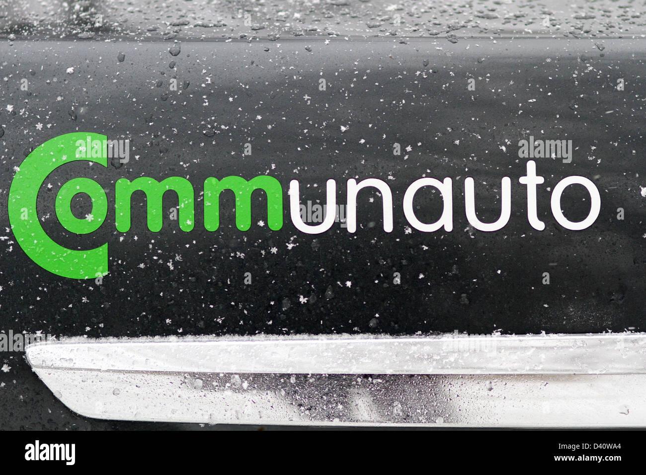 CommunAuto ist ein Carsharing-Unternehmen mit Sitz in Montreal, Quebec. Stockbild