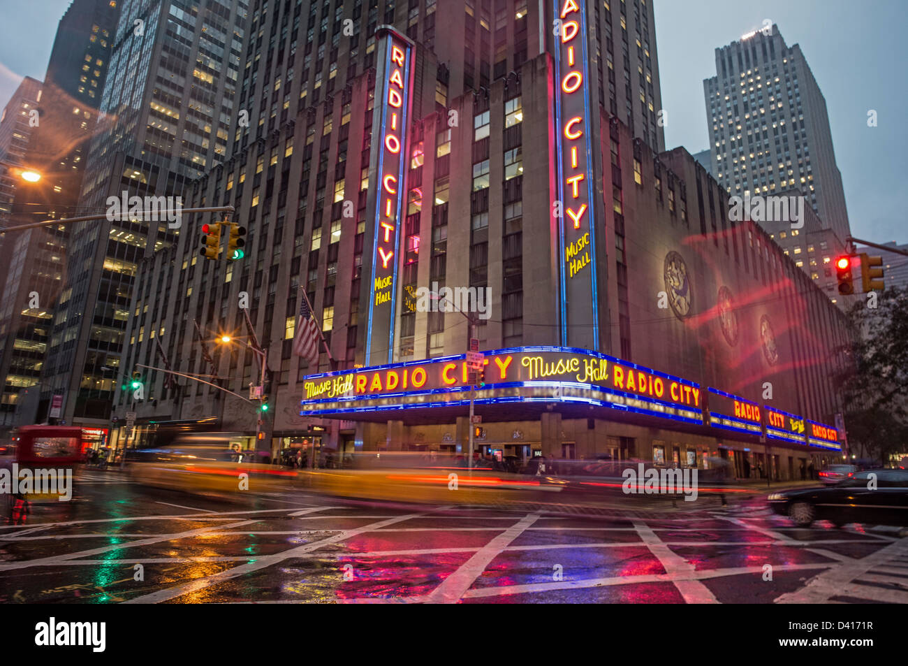 Die Radio Music Hall, Manhattan, New York City, USA Stockbild