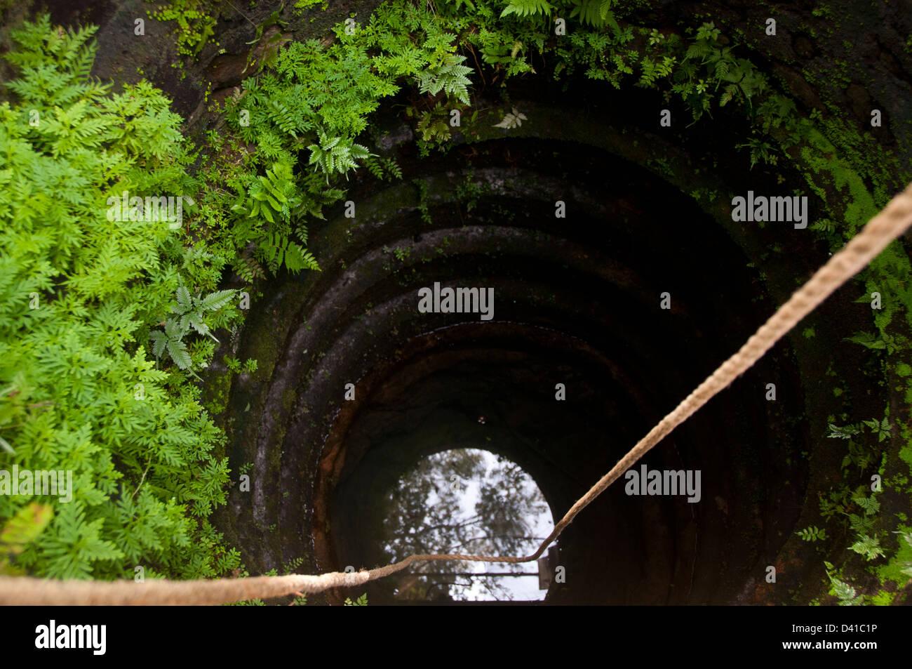 Hand gegraben Wasser gut in Kerala Indien Stockbild