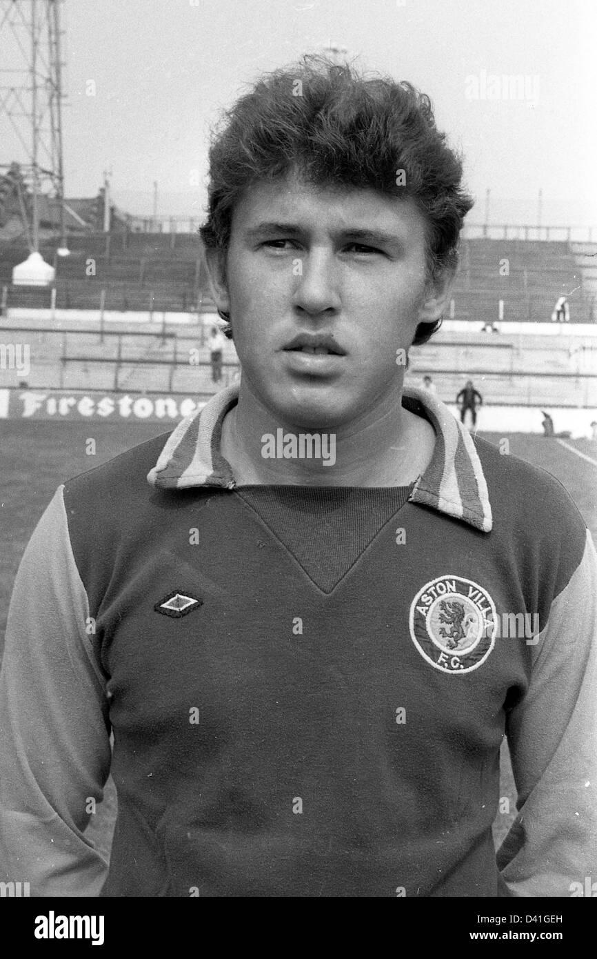 Gary Williams Aston Villa Football Club Fußballer 1976 Stockbild