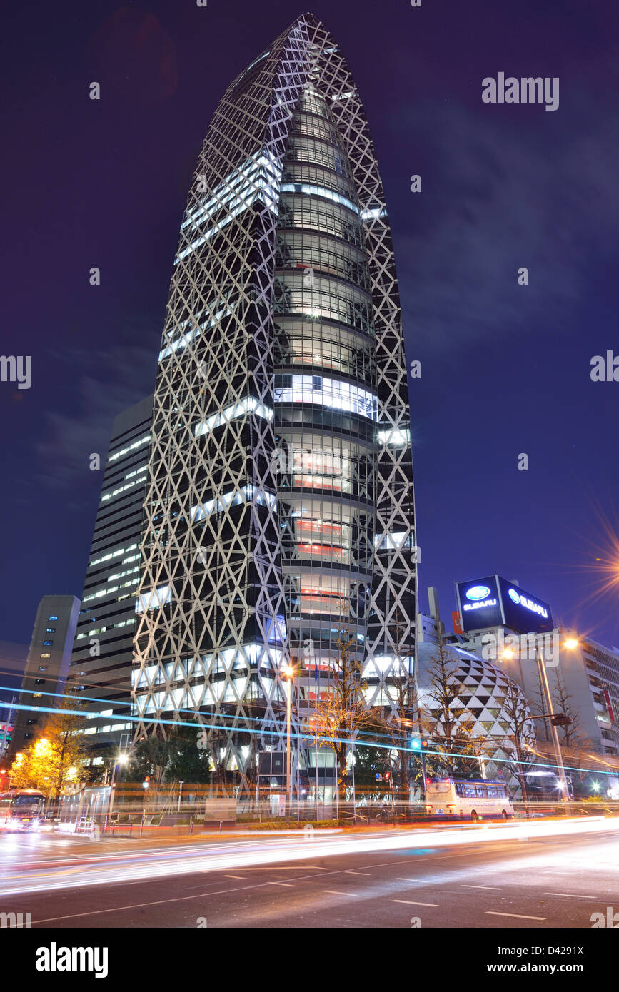 Mode Gakuen Turm, ein Wolkenkratzer, bestehend aus Hochschulen, in Shinjuku Ward, Tokio, Japan. Stockbild