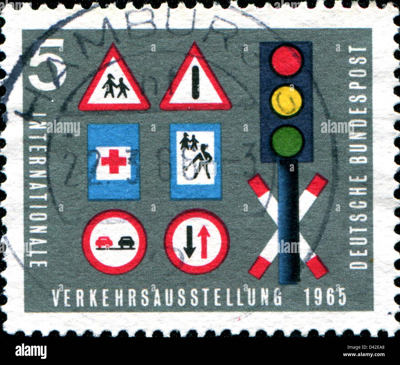Deutschland Ca 1965 Eine Briefmarke Gedruckt In Der