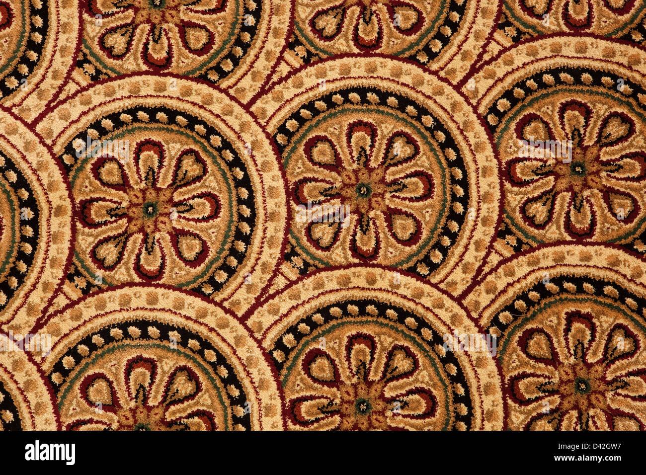 Teppich design textur  Hintergrund und Textur von einem bunten Teppich mit traditionellen ...