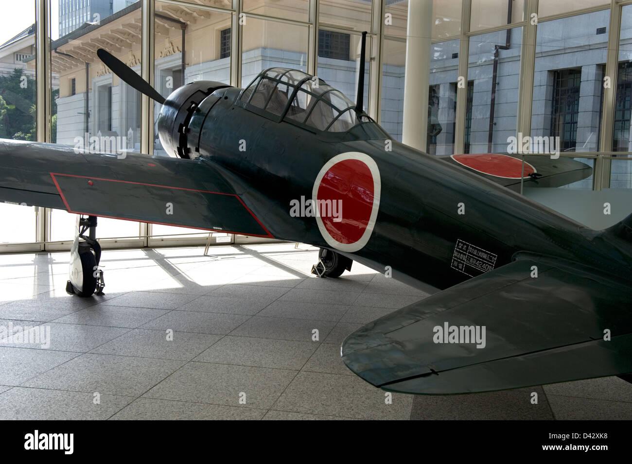 dem zweiten weltkrieg mitsubishi a6m zero jagdflugzeug auf dem
