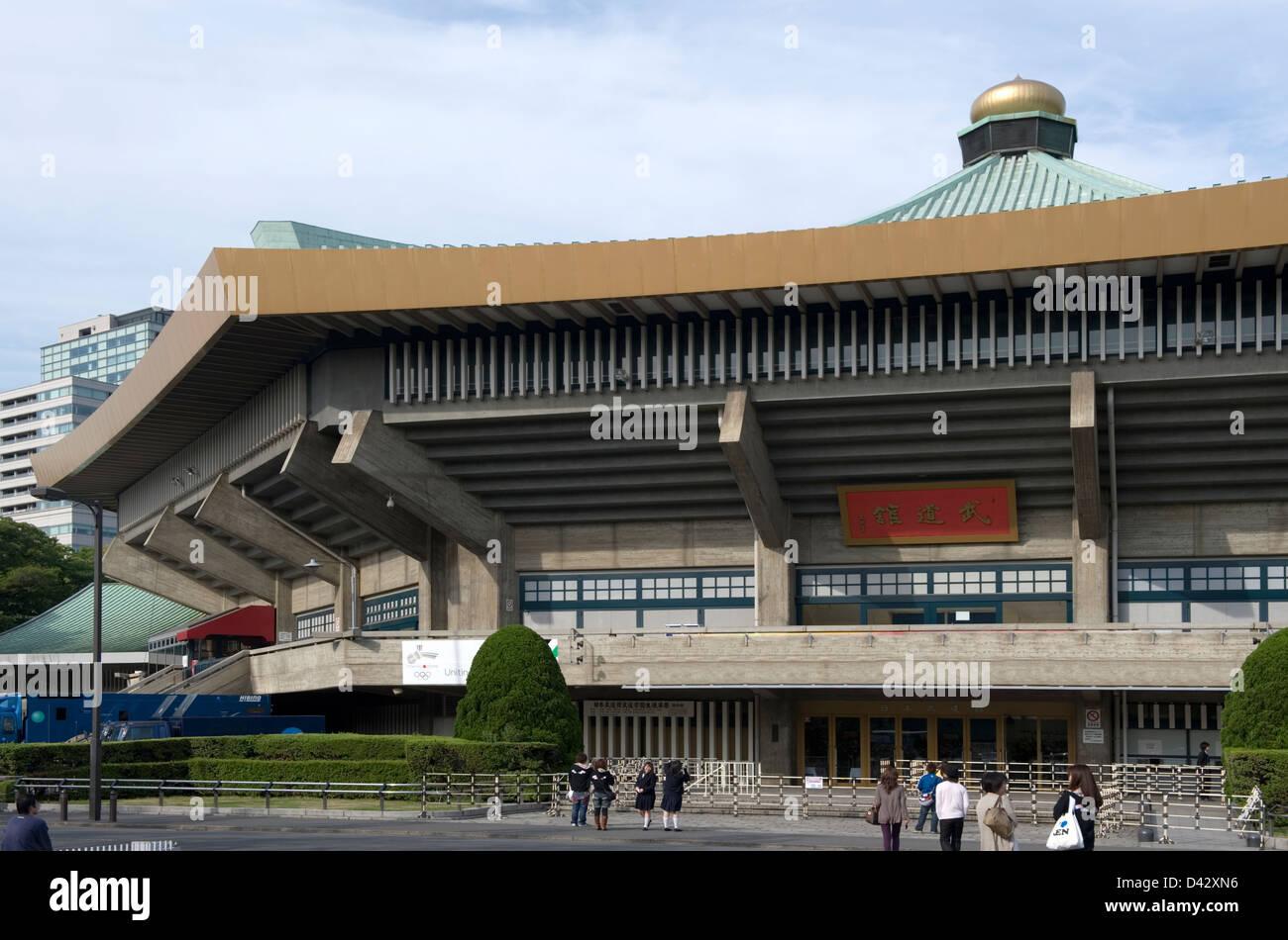 Nippon Budokan Arena hält Martial-Arts-Turniere und Konzerte im Zentrum von Tokio. Stockbild