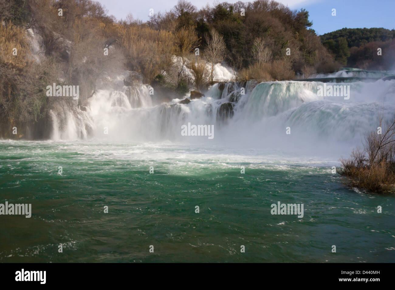 Skradinski Buk, Krka Nationalpark Kroatien Stockfoto