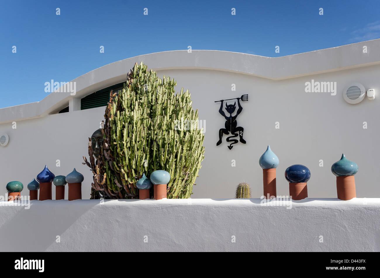 Privathaus in Charco de Palo, Lanzarote, Kanarische Inseln, Spanien Stockbild