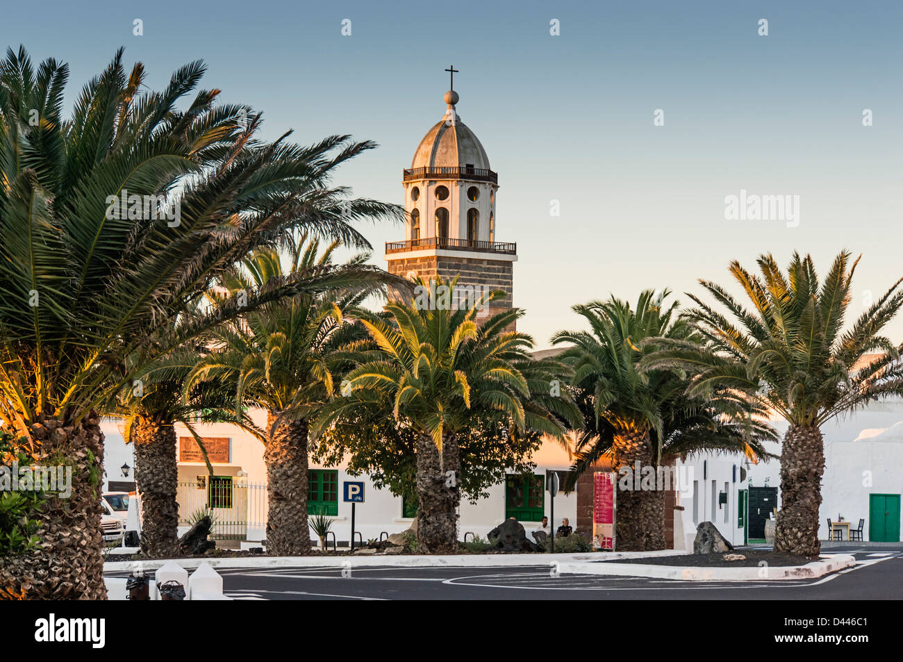 Nuestra Señora de Guadalupe Kirche, Teguise, Lanzarote, Kanarische Inseln, Spanien Stockbild