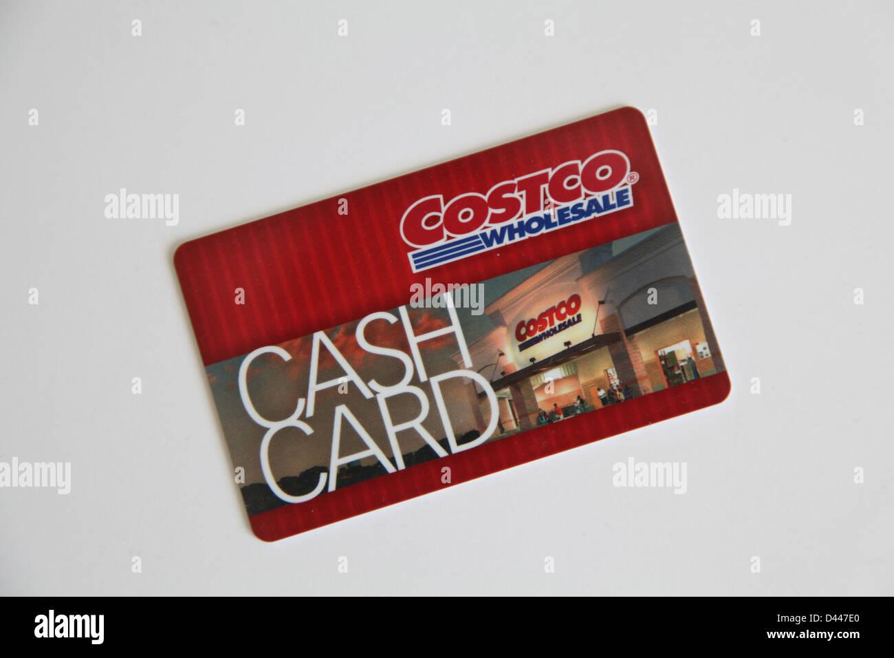 Costco-Cash-Karte Stockbild
