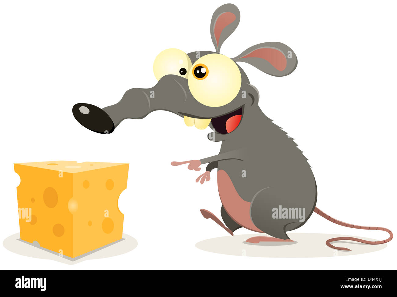 Cartoon Mouse With Cheese Stockfotos & Cartoon Mouse With Cheese ...