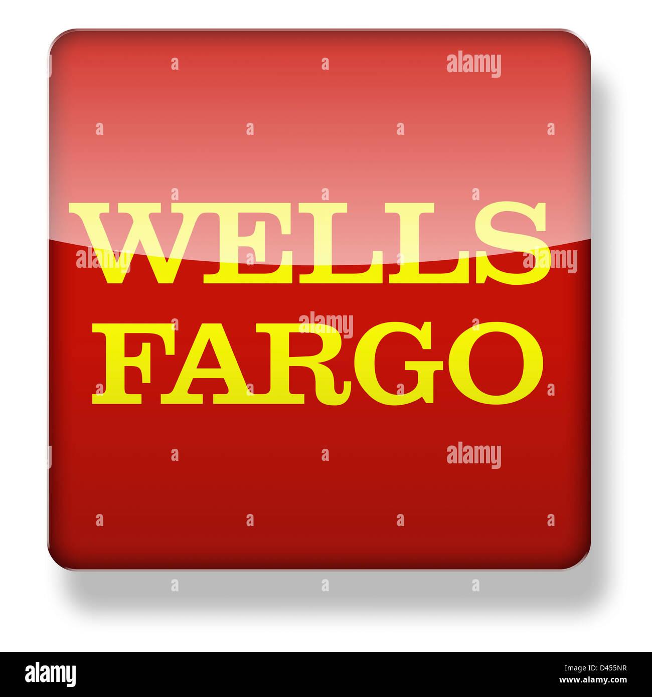 Wells Fargo Logo Als Ein App Symbol Clipping Pfad Enthalten