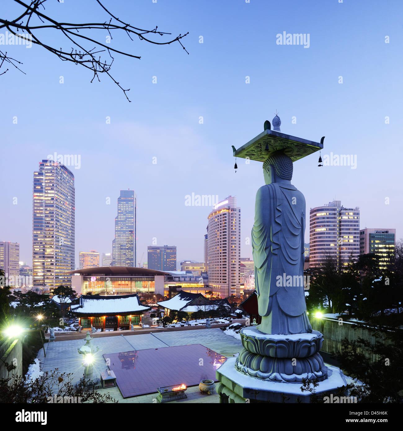 Bongeunsa-Tempel in der Gangnam Bezirk von Seoul, Korea. Stockbild