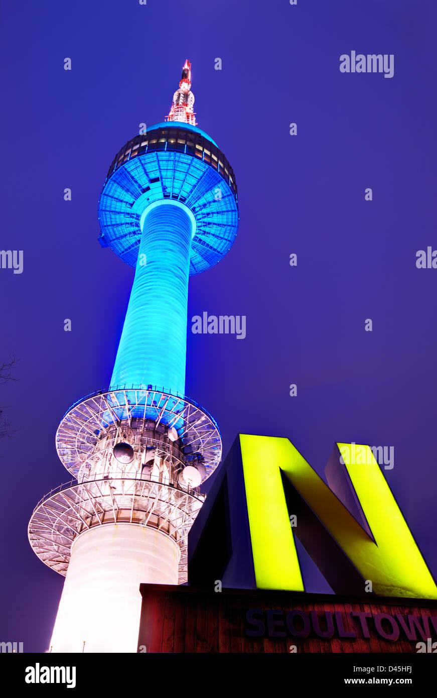 N Seoul Tower in Seoul, Südkorea. Stockbild
