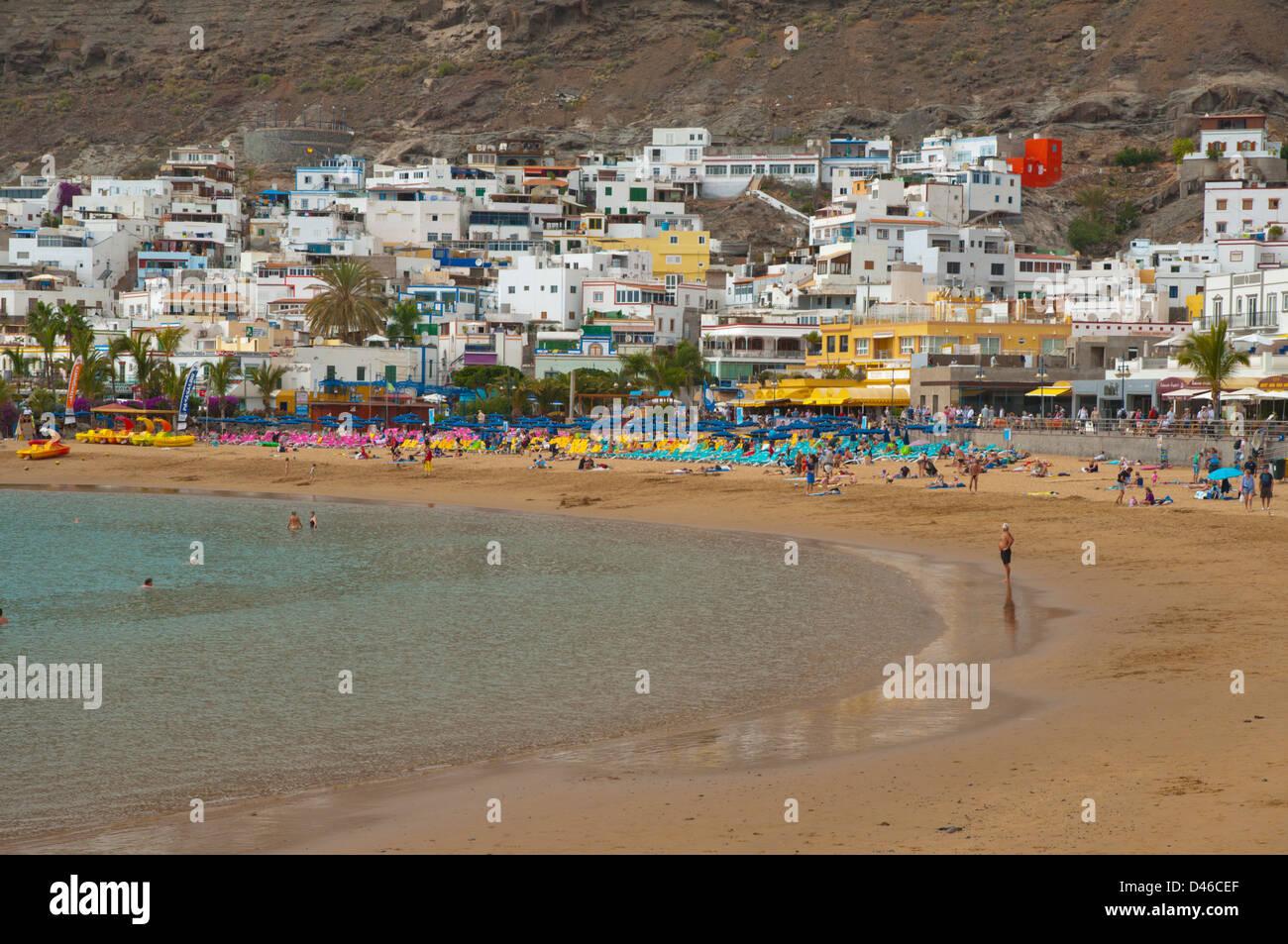 Strand in Puerto de Mogan Resort Gran Canaria Insel der Kanarischen Inseln-Spanien-Europa Stockbild