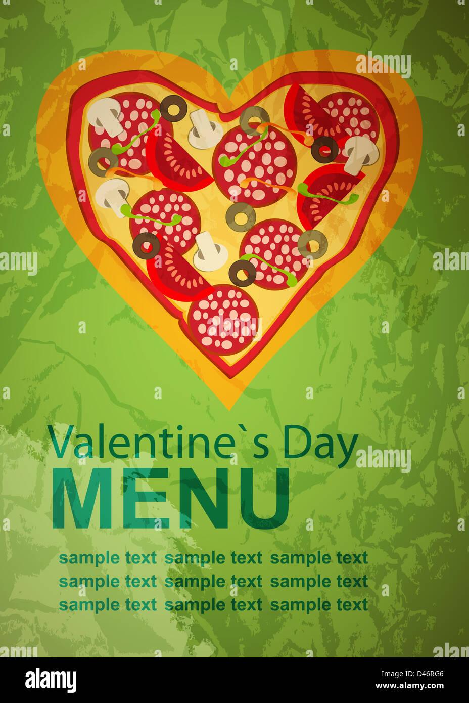 Ausgezeichnet Valentinstag Menüvorlage Zeitgenössisch - Beispiel ...