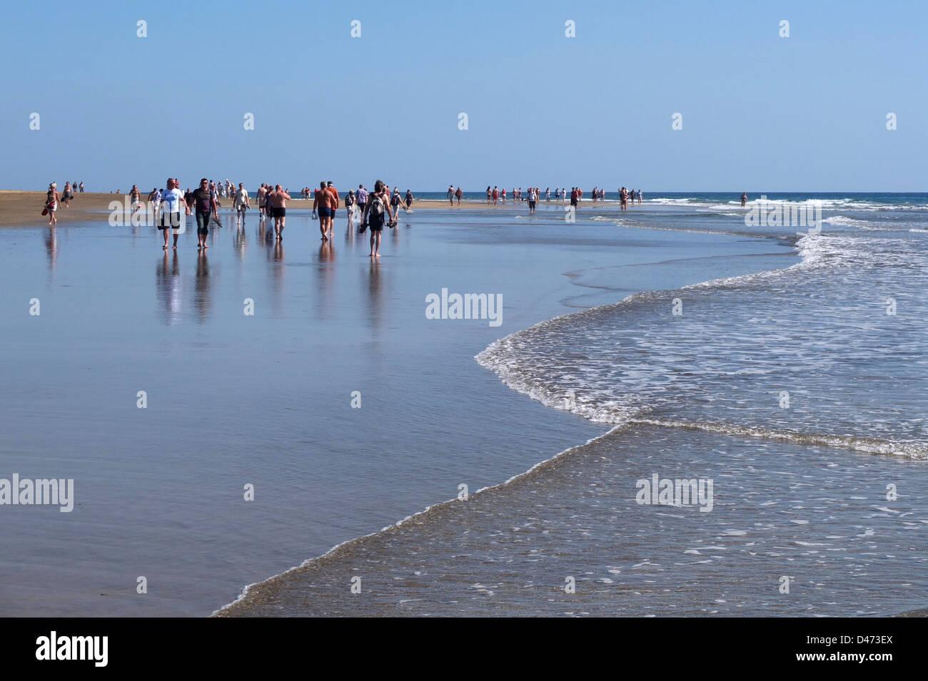 Maspalomas-Playa Kanaren del Inglés Spanien Gran Canaria Stockbild