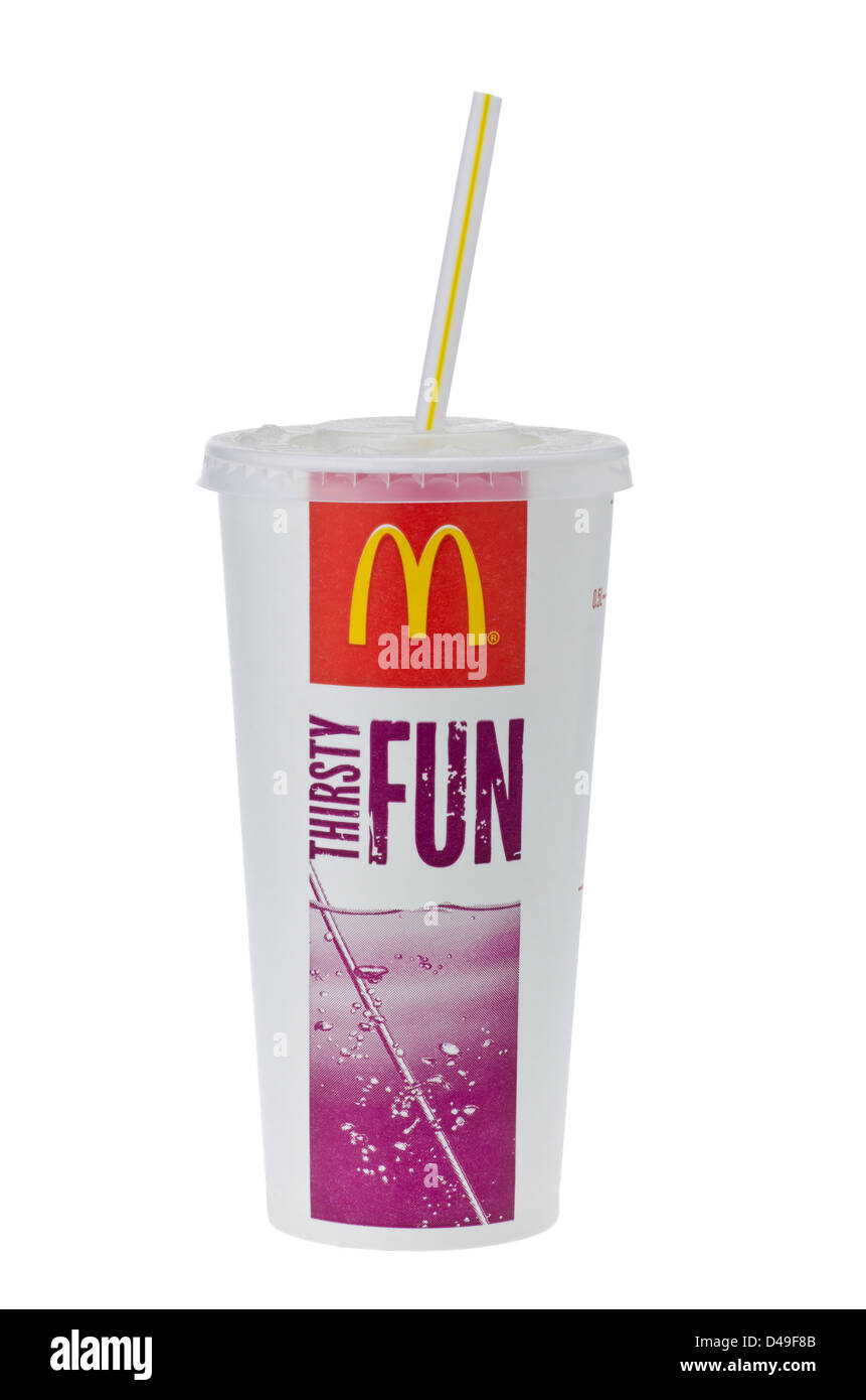 Cup of McDonalds Cola mit Stroh Stockfoto, Bild: 54299291 - Alamy