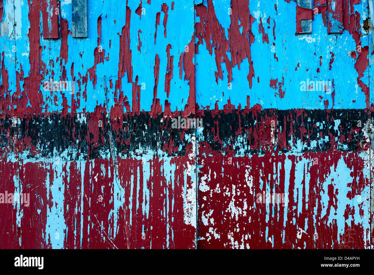Verwitterte Farbe gesäumt und läuten. Stockbild