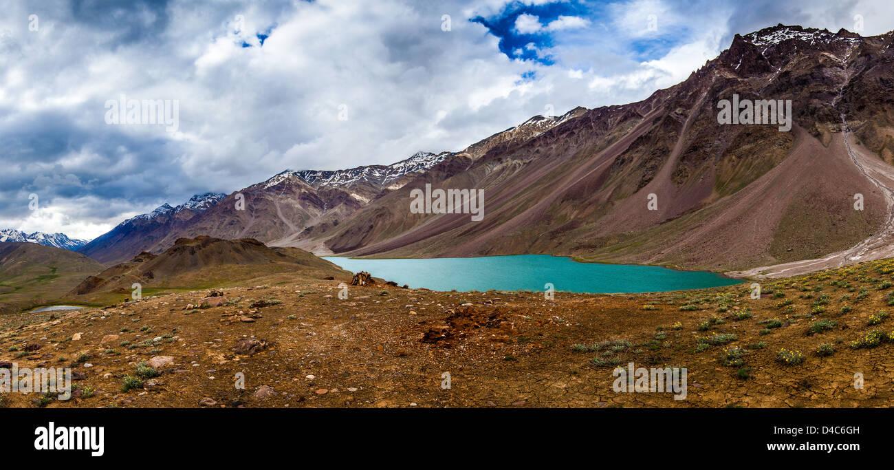 Chandra Taal Spiti Seetal, Himachal Pradesh, Indien Stockbild