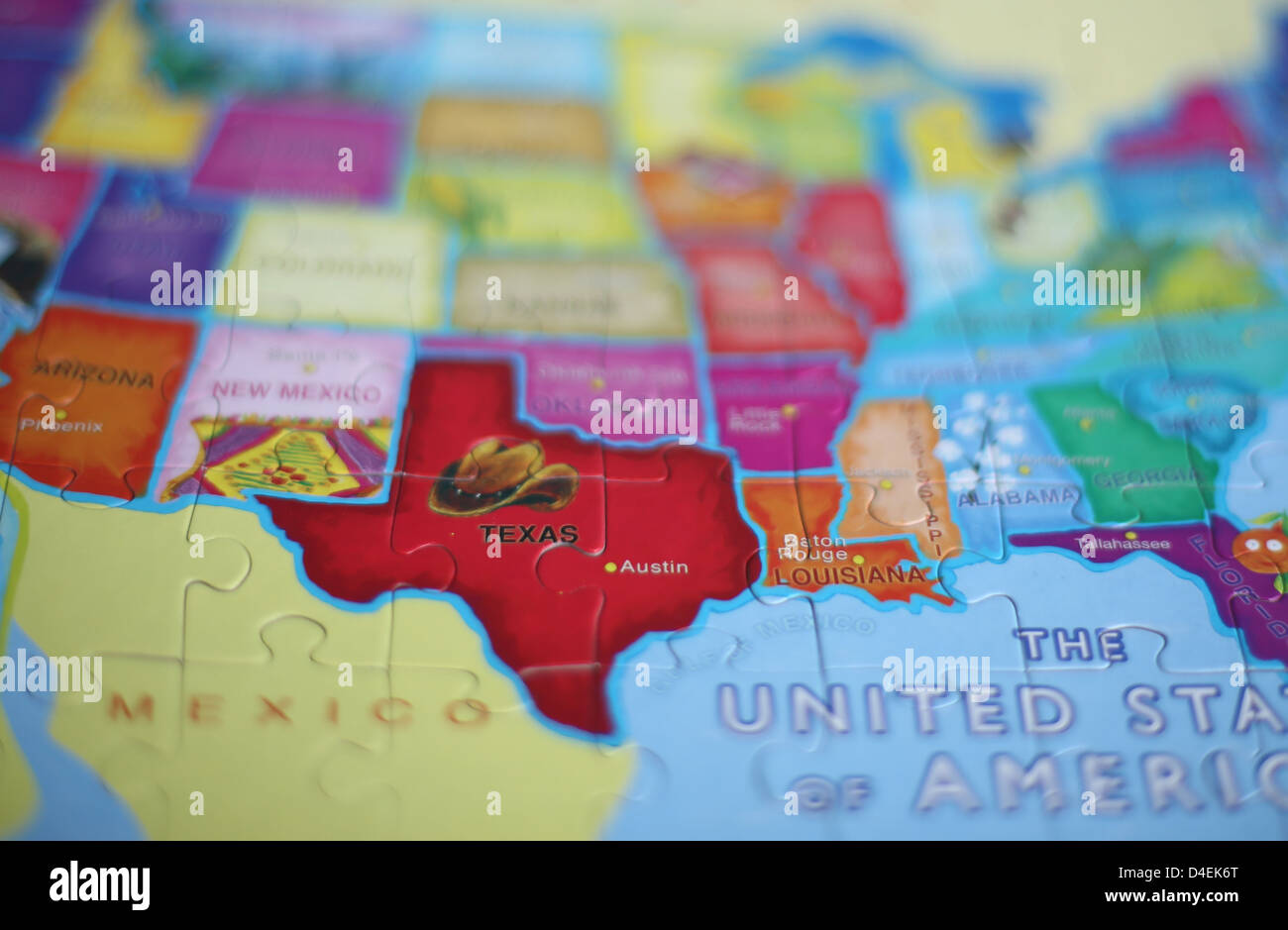 Map State Texas Stockfotos & Map State Texas Bilder - Alamy