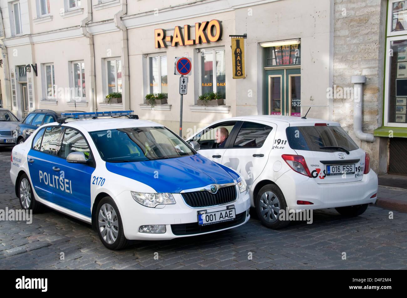 Estnische Polizei Stockfotos Estnische Polizei Bilder Alamy