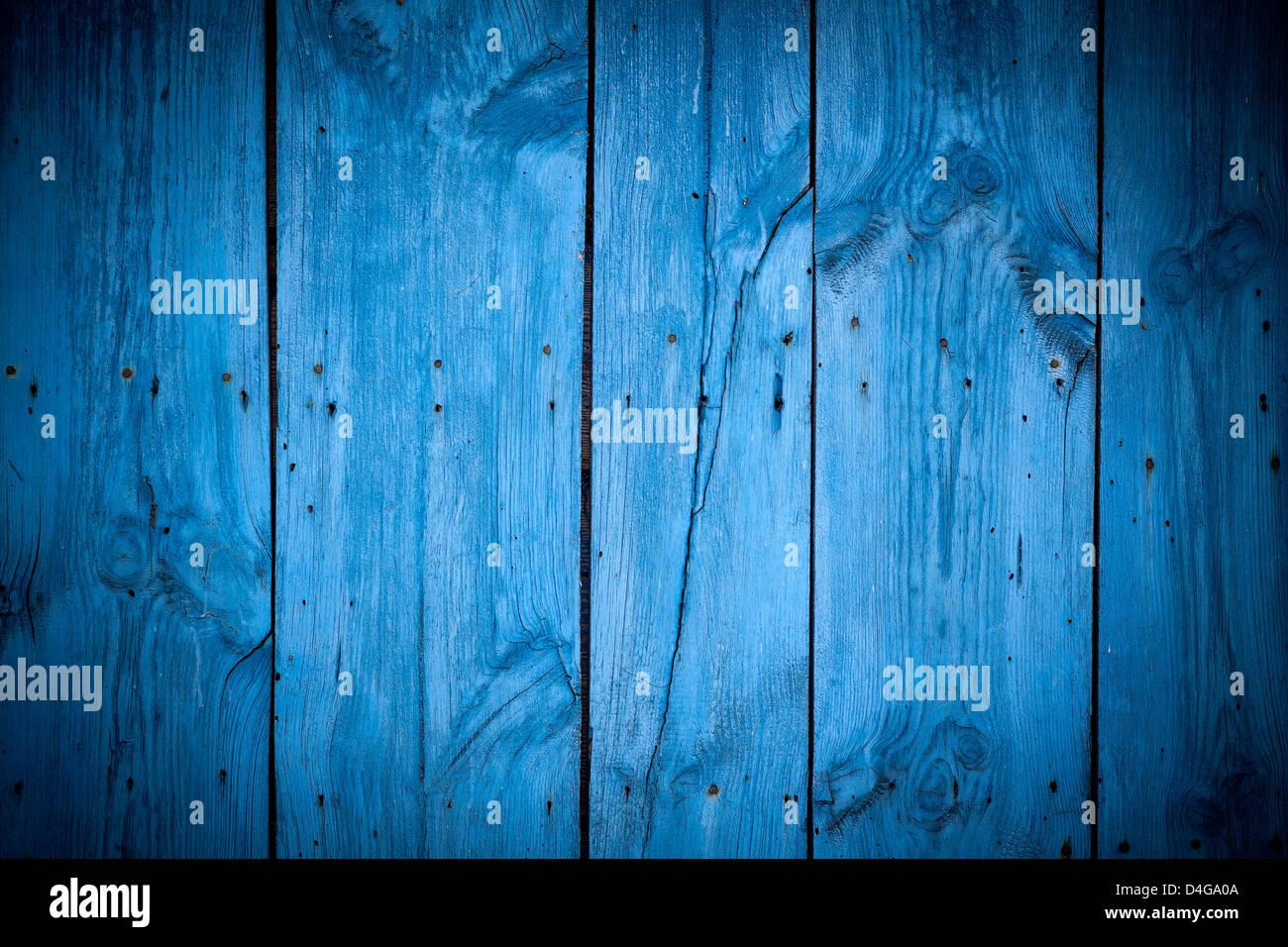 Textur des blauen Holzplatte für Hintergrund vertikale Stockbild