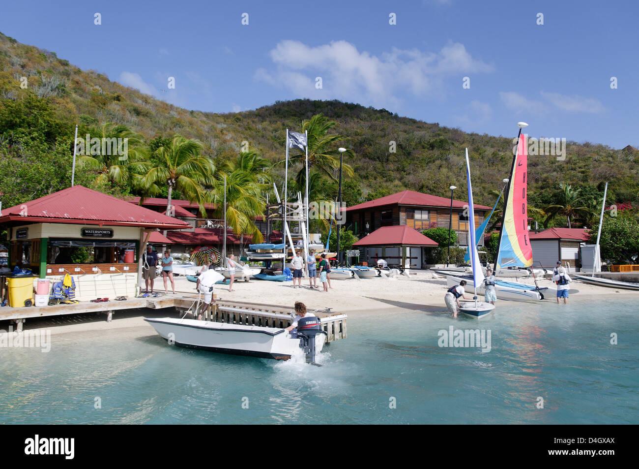 Bitter End Yachtclub, Insel Virgin Gorda, Britische Jungferninseln, West Indies, Karibik Stockbild
