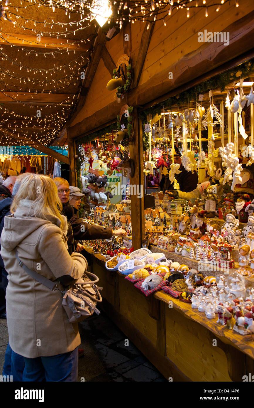Dortmunder Weihnachtsmarkt Stände.Weihnachtsmarkt Stand Dortmund Nordrhein Westfalen Deutschland