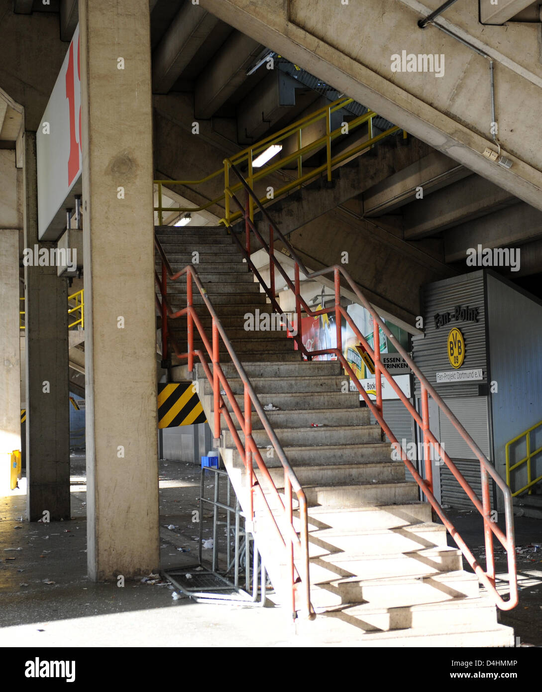 Treppen Dortmund die treppe zum block 13 der signal iduna park in dortmund