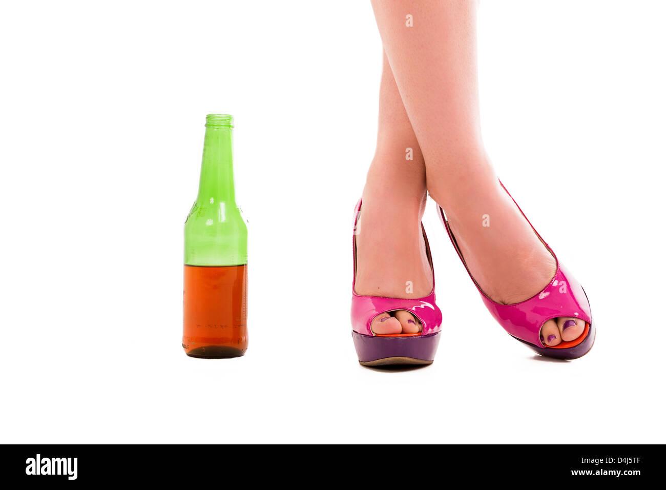 Heels Flasche Bier StockfotoBild54489471 Mit High Alamy ZiOPuXk