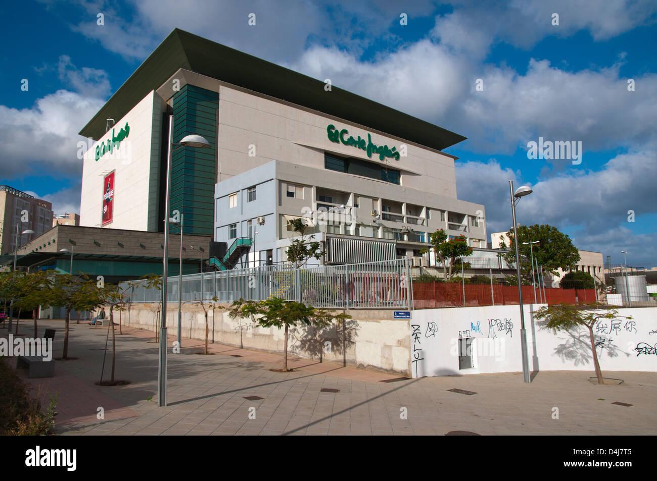 El Corte Ingles Kaufhaus Santa Cruz Stadt Teneriffa Insel Kanaren Spanien Stockbild