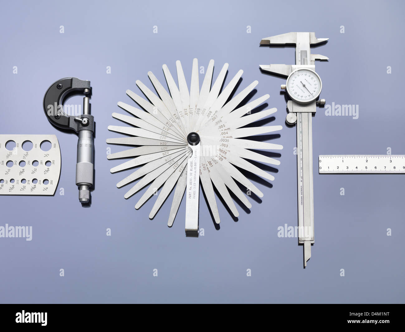 Engineering-Mess-Tools, die in der Industrie Stockbild