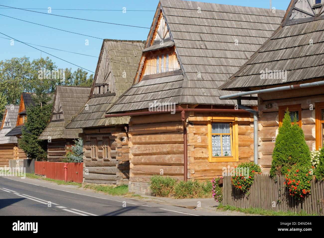 Traditionelle Holzhäuser, Chocholow. Kleinpolen, Polen Stockfoto ...
