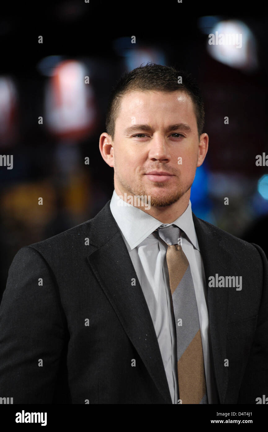 Channing Tatum besucht die GI JOE UK Premiere auf 18.03.2013 in The Empire Leicester Square, London. Personen im Stockbild