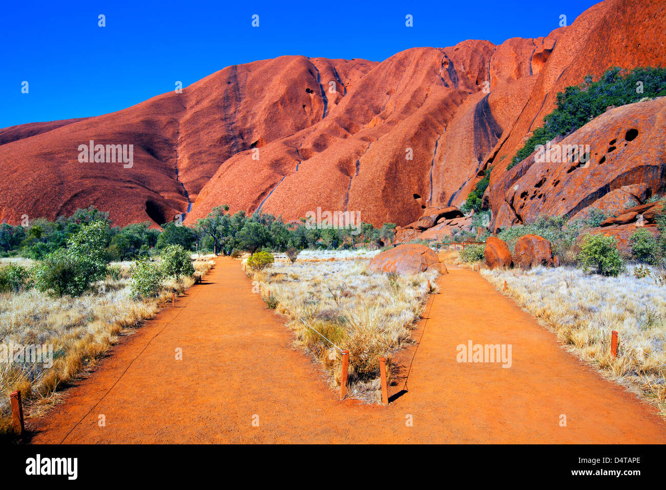 Outback-zentrale Australien Northern Territory Landschaft Landschaften outback Ayers Rock Uluru Stockbild