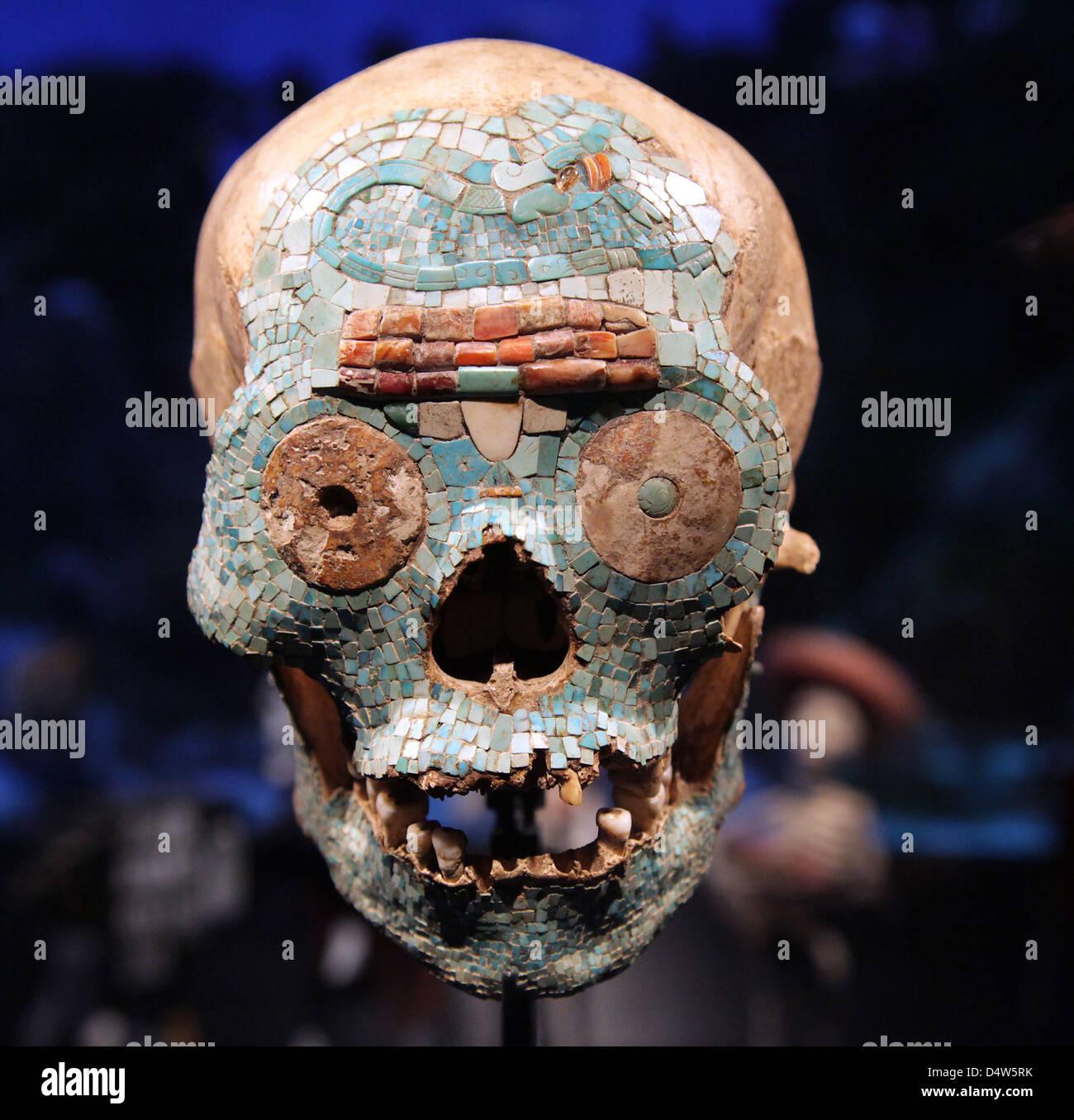 Skull.Mosaic.Mexico.Dia de Los Muertos.day der Toten. Cultural Anthropology. Stockbild