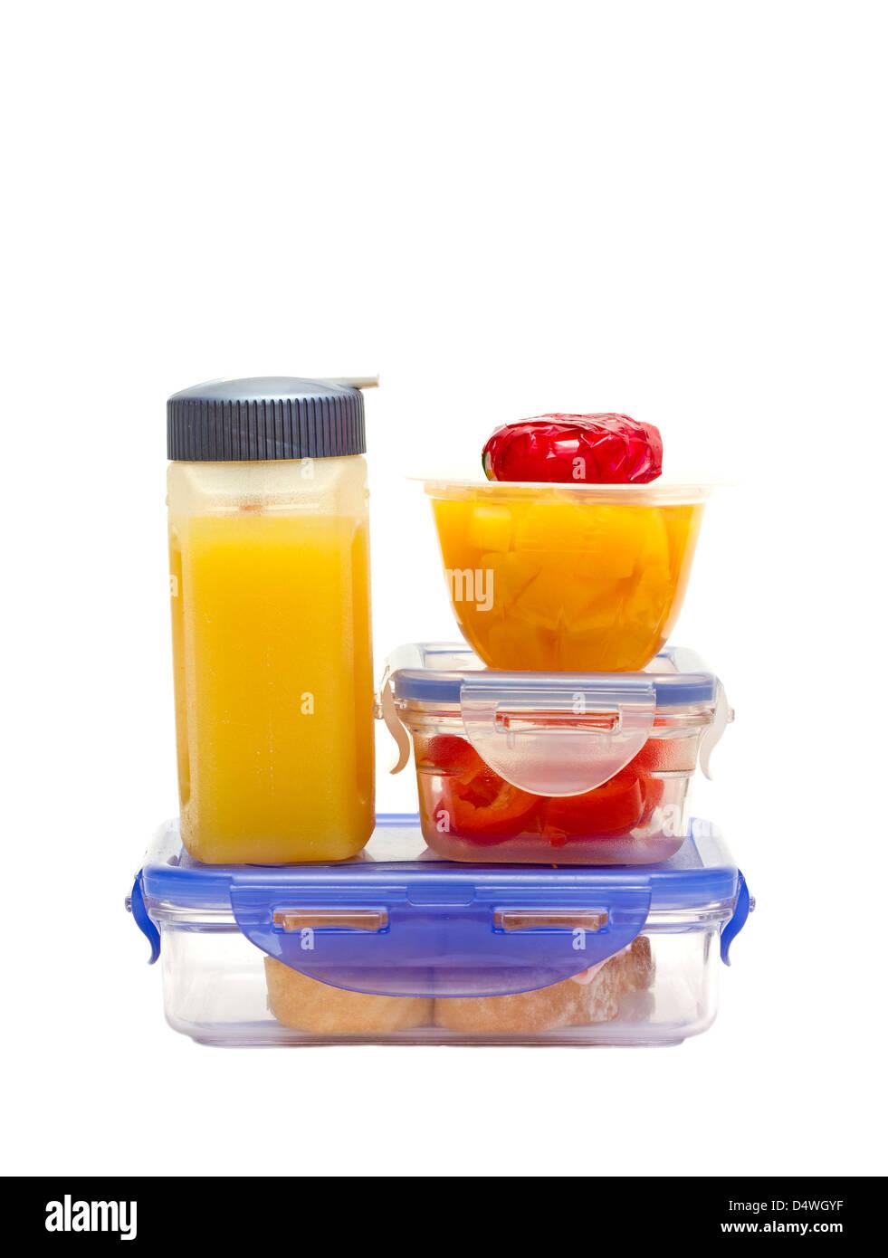 Schule gesundes Mittagessen für Kinder Stockbild