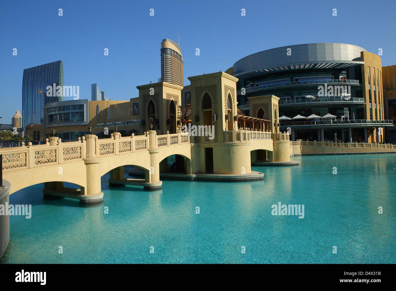 Die Dubai Mall, Dubai, Vereinigte Arabische Emirate Stockbild