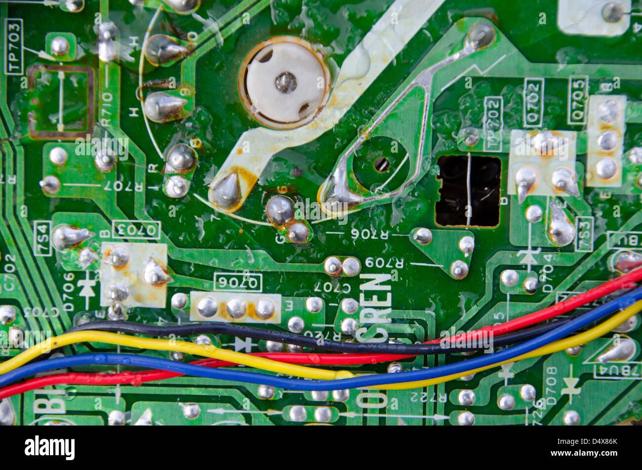 Blue Tech Abstract Background Circuit Stockfotos & Blue Tech ...
