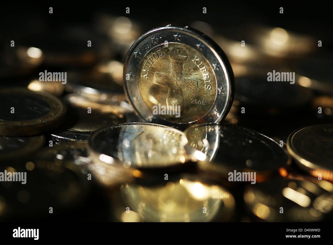 Abbildung Eine Illustrierte Bild Zeigt Eine Euro Münze Aus Zypern
