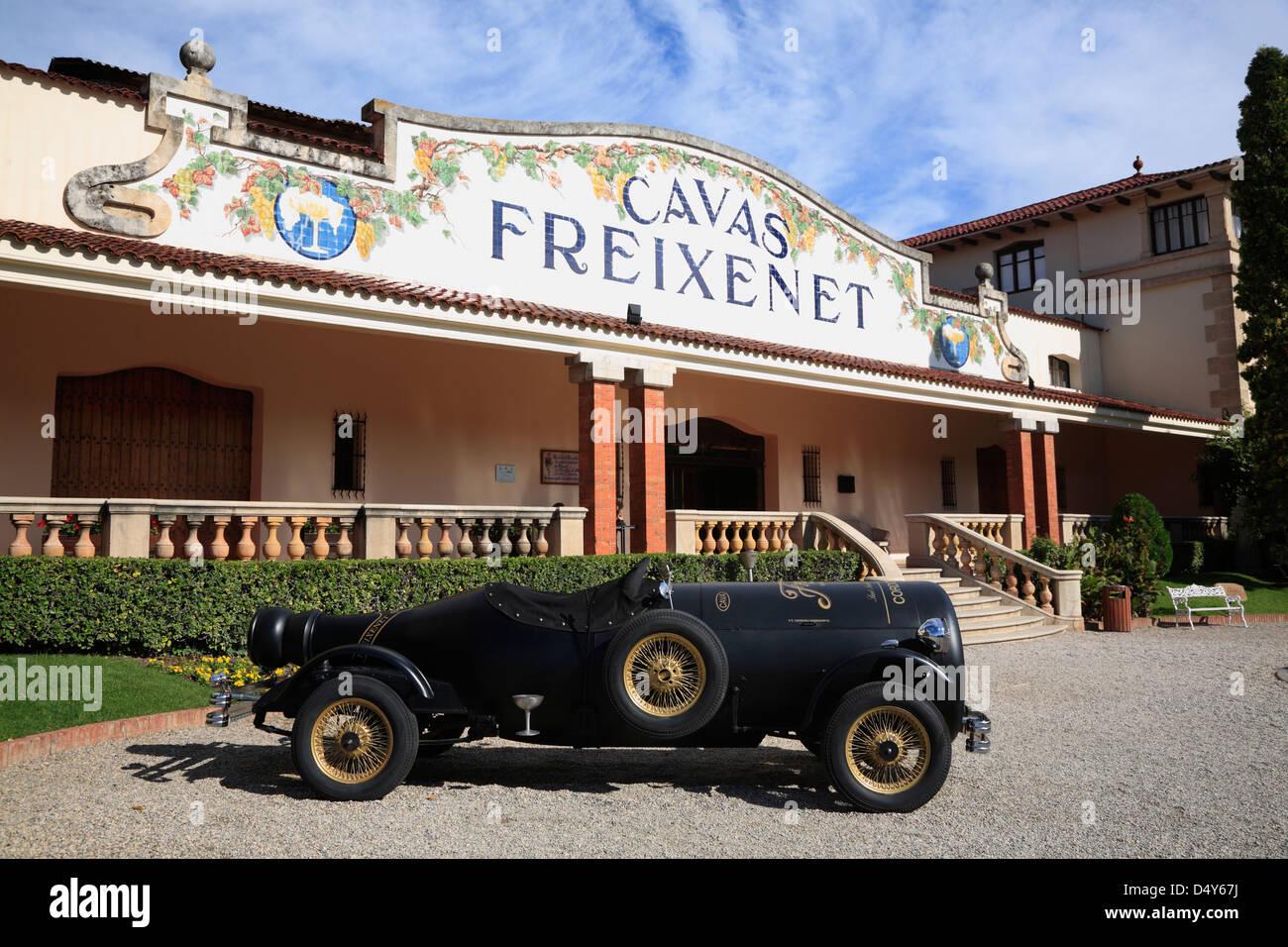 Freixenet Cava Produzent Sant Sadurni de Anoia Penedès Region in der Nähe von Barcelona, Spanien Stockbild