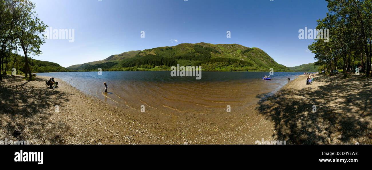 Stirling, Großbritannien, das Loch verdienen in Loch Lomond & der Trossachs National Park Stockbild