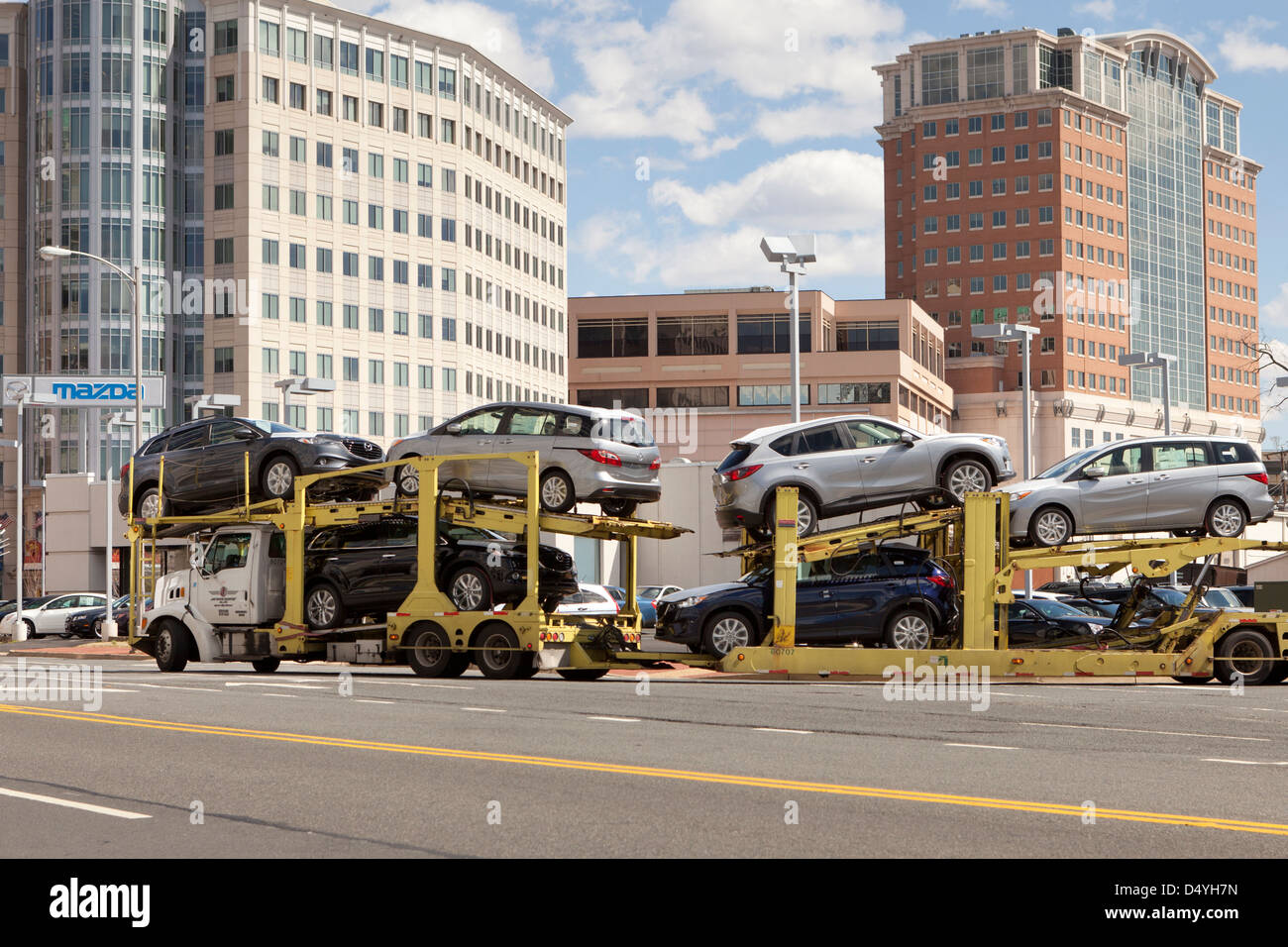 Auto-Transport-LKW - USA Stockbild